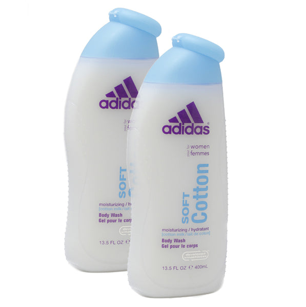 ADSC13 - Adidas Soft Cotton Body Wash for Women - 2 Pack - 13.5 oz / 400 ml - Pack