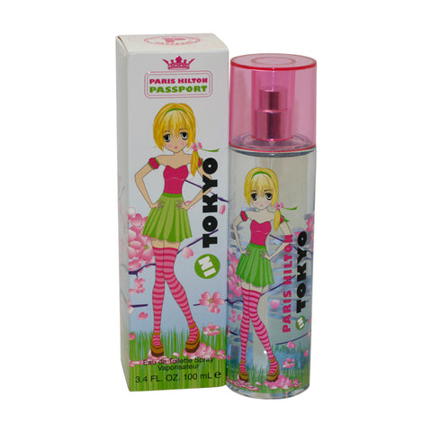 PHT34 - Paris Hilton Passport Tokyo Eau De Toilette for Women - 3.4 oz / 100 ml Spray