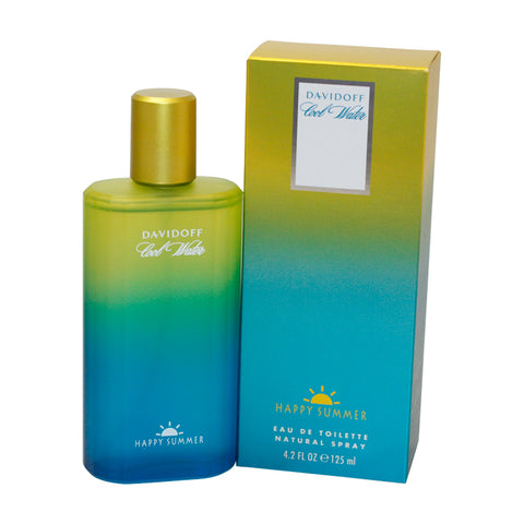 CHS42M - Cool Water Happy Summer Eau De Toilette for Men - Spray - 4.2 oz / 125 ml