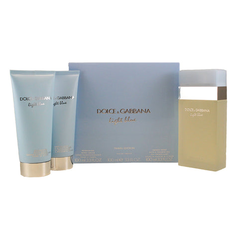 DO201 - Dolce & Gabbana Light Blue 3 Pc. Gift Set for Women