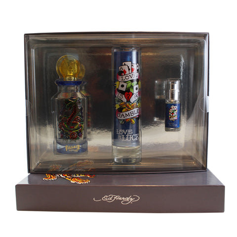 EDV99 - Ed Hardy Variety 3 Pc. Gift Set for Men