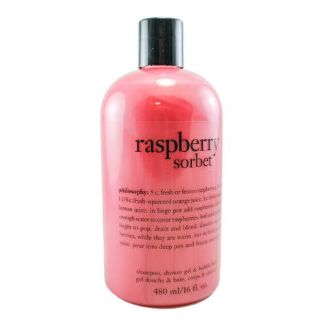 RS16 - Raspberry Sorbet 3 In 1 Shampoo Shower Gel & Bubble Bath  for Women - 16 oz / 480 ml