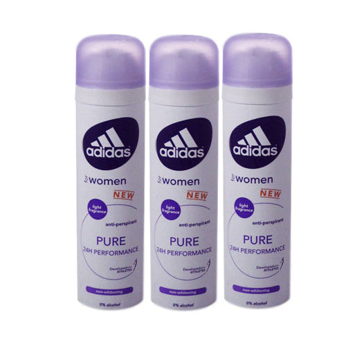 ADD37 - Adidas Pure Anti-Perspirant for Women - 3 Pack - Spray - 5 oz / 150 ml