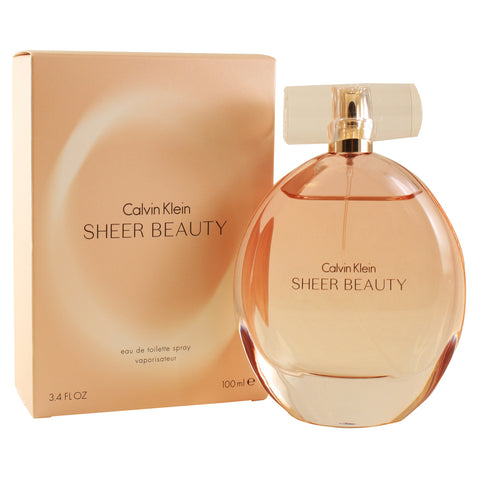 CKSB34 - Sheer Beauty Eau De Toilette for Women - 3.4 oz / 100 ml Spray