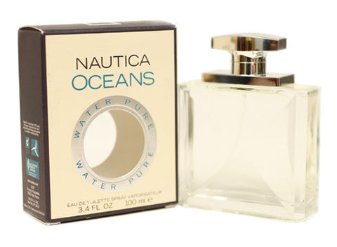 NOWP12M - Nautica Oceans Water Pure Eau De Toilette for Men - Spray - 3.4 oz / 100 ml