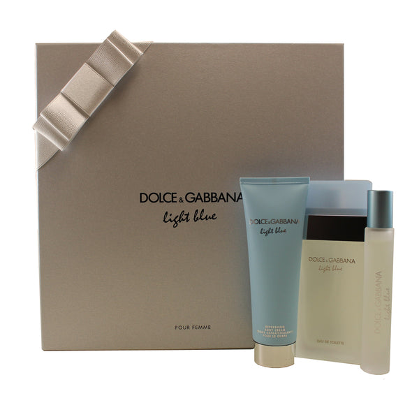 DO703 - Dolce & Gabbana Light Blue 3 Pc. Gift Set for Women