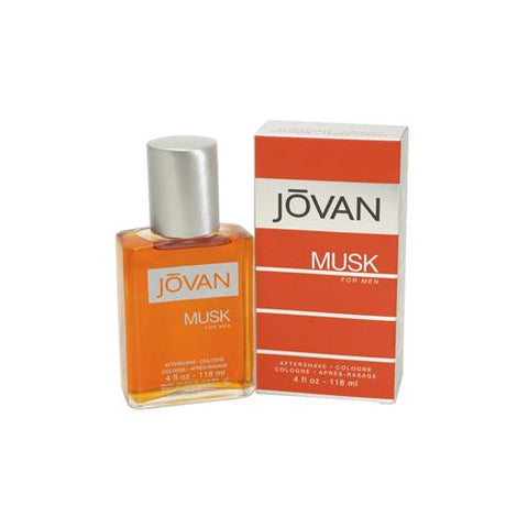 JO72M - Coty Jovan Musk Aftershave for Men | 4 oz / 118 ml - Splash