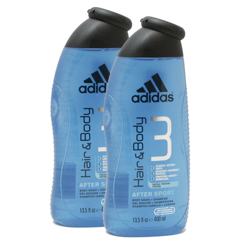 ADS27M - Adidas After Sport Hair & Body Wash for Men - 2 Pack - 13.5 oz / 400 ml