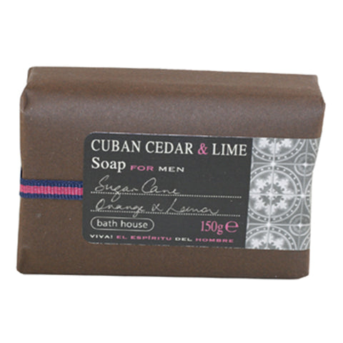 BH12M - Cuban Cedar & Lime Soap for Men - 5 oz / 150 g
