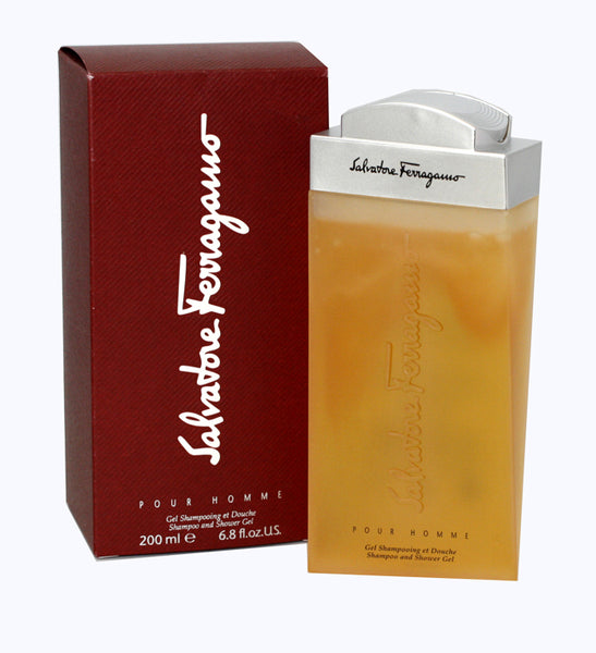 SA259M - Salvatore Ferragamo Shampoo And Shower Gel for Men - 6.8 oz / 200 ml