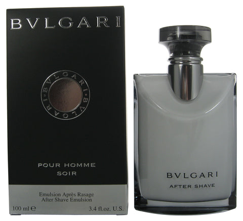 BVS14M - Bvlgari Pour Homme Soir Aftershave for Men - Balm - 3.4 oz / 100 ml
