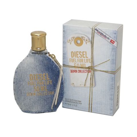 DFD17 - Diesel Fuel For Life Denim Eau De Toilette for Women - 1.7 oz / 50 ml Spray
