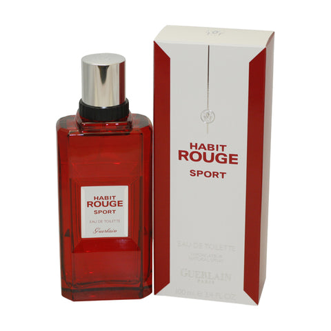 HAS34M - Habit Rouge Sport Eau De Toilette for Men - Spray - 3.4 oz / 100 ml