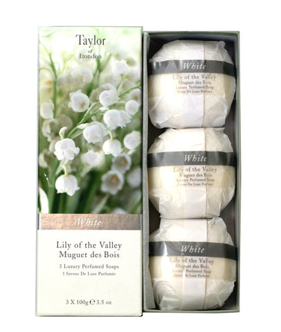 TOL350 - Taylor Of London Lily Of The Valley Muguet Des Boi Soap for Women - 3.5 oz / 105 ml