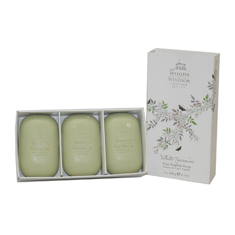WHI86 - White Jasmine Soap for Women - 3 Pack - 3.5 oz / 100 g