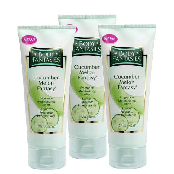 CUF35 - Cucumber Melon Fantasy Fragrance Moisturizing Lotion  for Women - 3 Pack - 7 oz / 210 ml - Pack