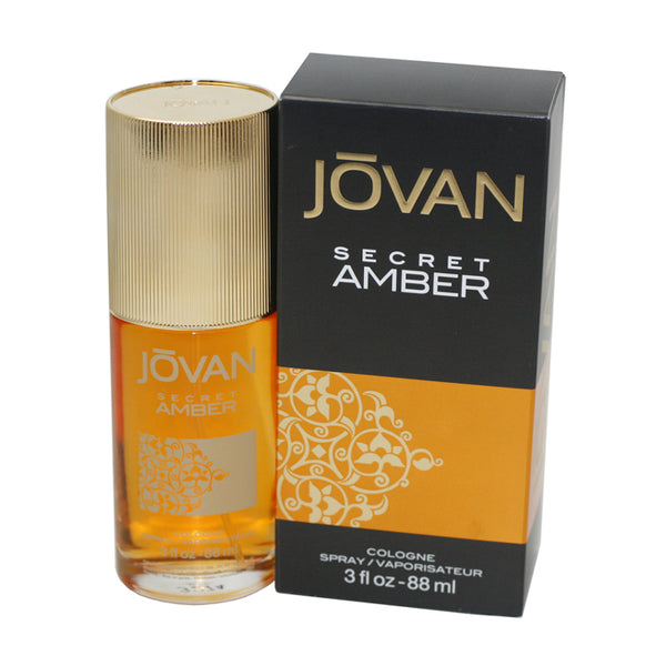 JSA30 - Jovan Secret Amber Cologne for Women - Spray - 3 oz / 88 ml