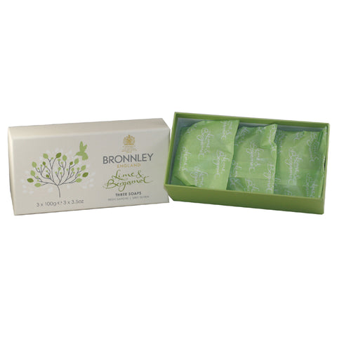 BRO16 - Lime & Bergamot Soap for Women - 3 Pack - 3.5 oz / 100 g