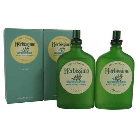 HER48M - Herbissimo Te Verde Cologne for Men - 2 Pack - Spray - 3.4 oz / 100 ml - Pack