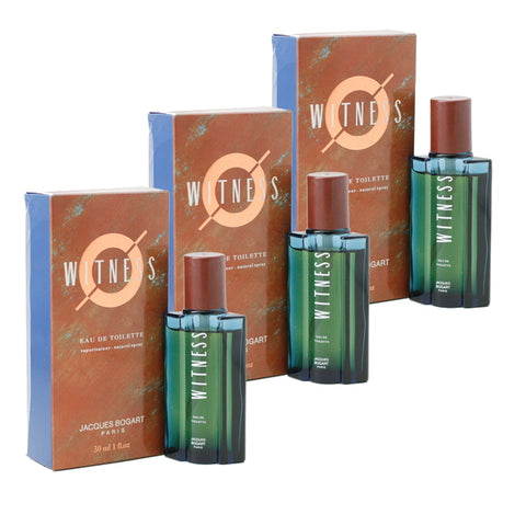 WI77M - Witness Eau De Toilette for Men - 3 Pack - Spray - 1 oz / 30 ml - Pack