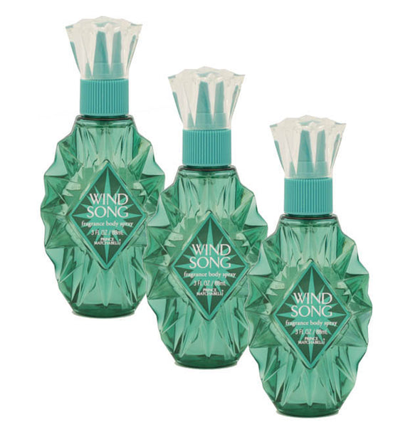 WI118 - Wind Song Fragrance Body Spray for Women - 3 Pack - 3 oz / 88 ml
