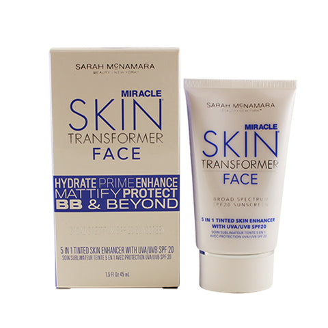MST14 - Sarah McNamara Miracle Skin Transformer Face 5 In 1 Tinted Skin Enhancer With Uva/uvb for Women | 1.5 oz / 45 ml - SPF 20 - Light