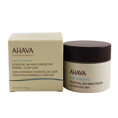 AHV11 - Ahava Time To Hydrate Essential Day Moisture for Women | 1.7 oz / 50 ml - For Normal to Dry Skin