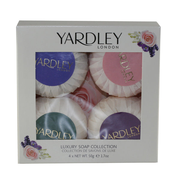 YAM40 - Yardley Of London Luxury Soap Collection 4 Pc. Gift Set for Women