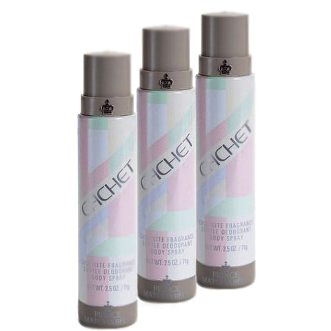 CA228 - Cachet Deodorant for Women - 3 Pack - Body Spray - 2.5 oz / 75 ml