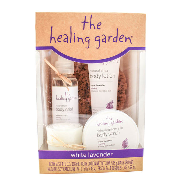 HGWL5 - The Healing Garden White Lavender 5 Pc. Gift Set for Women