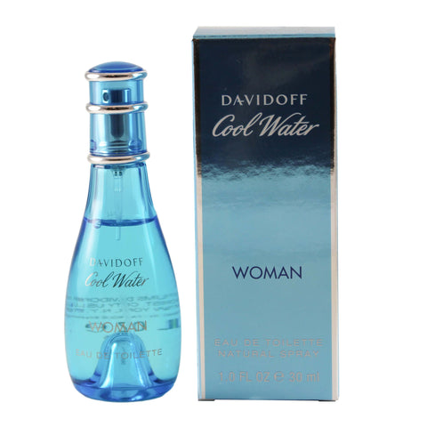 CO40 - Cool Water Eau De Toilette for Women - 1 oz / 30 ml Spray