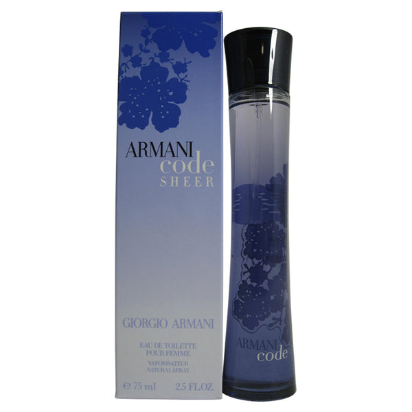 ARC28 - Armani Code Sheer Pour Femme Eau De Toilette for Women - Spray - 2.5 oz / 75 ml