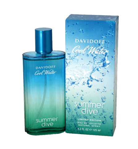 COW40 - Cool Water Summer Dive Eau De Toilette for Men - Spray - 4.2 oz / 125 ml - Limitied Edition