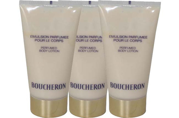 BOU19 - Boucheron Body Lotion for Women - 3 Pack - 1.6 oz / 50 ml - Unboxed