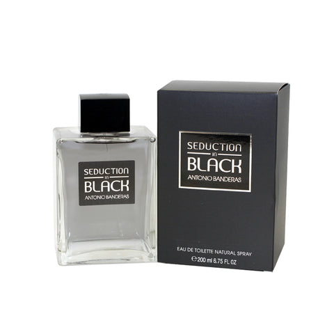 ASB67M - Seduction In Black Eau De Toilette for Men - 6.7 oz / 200 ml Spray