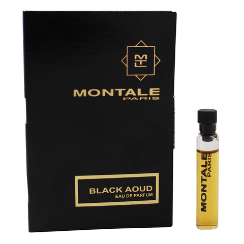 MONT152 - MONTALE Montale Black Aoud Eau De Parfum for Women 0.07 oz / 2 ml Splash