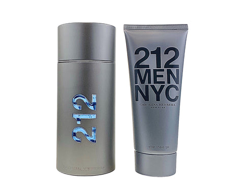 AA122M - 212 2 Pc. Gift Set ( Eau De Toilette Spray 3.4 Oz + Aftershave Gel 3.4 Oz ) for Men