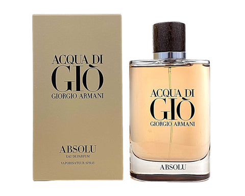 AGU42M - Giorgio Armani Acqua Di Gio Absolu Eau De Parfum for Men - 4.2 oz / 125 ml - Spray