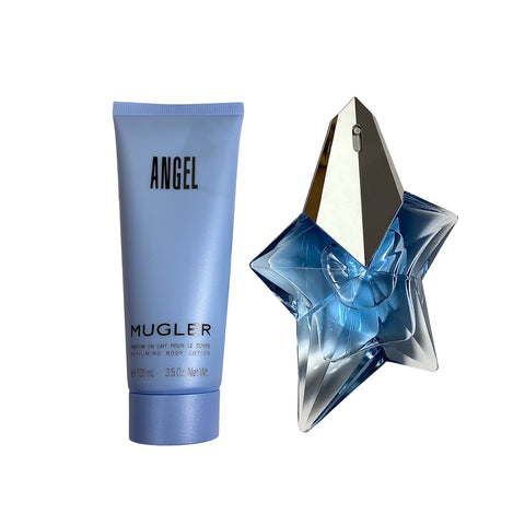 AN345 - Angel 2 Pc. Gift Set ( Eau De Parfum Spray 1.7 Oz + Perfuming Body Lotion 3.5 Oz ) for Women by Thierry Mugler