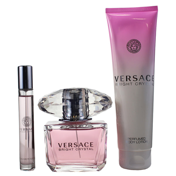 BER77 - Gianni Versace Versace Bright Crystal 3 Pc. Gift Set for Women