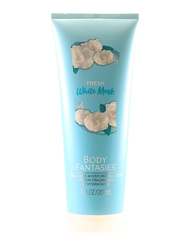 BF37 - Body Fantasies Signature Body Lotion for Women - Fresh White Musk 7 oz / 207 g