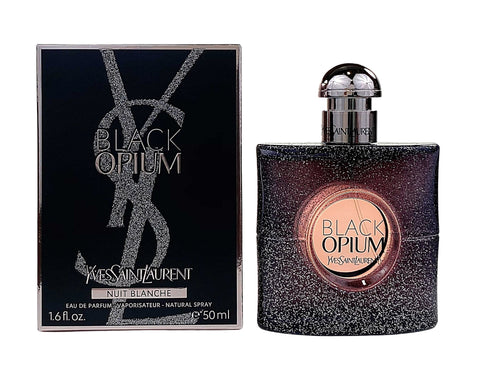 BON6 - Yves Saint Laurent Black Opium Nuit Blanche Eau De Parfum for Women - 1.6 oz / 50 ml - Spray
