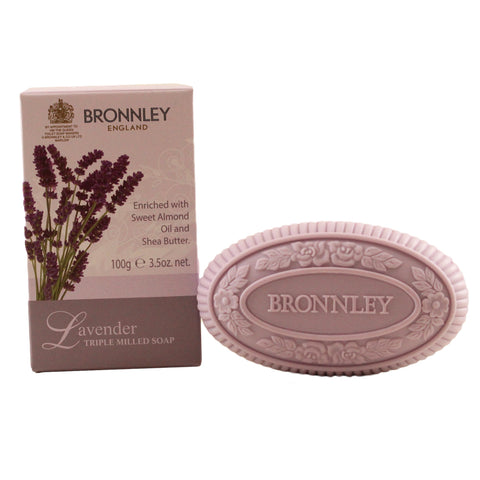 BRO09 - Bronnley England Lavender. Triple Milled Soap  for Women - 3.5 oz / 100 g