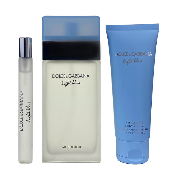 DO706 - Dolce & Gabbana Light Blue 3 Pc. Gift Set for Women