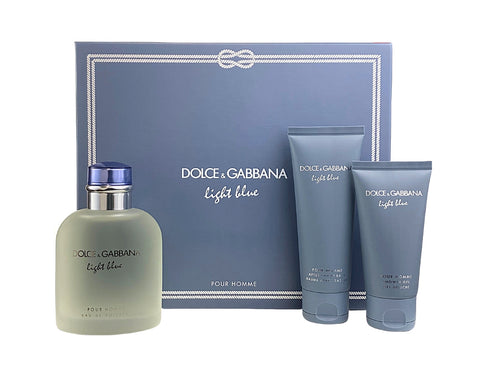 DO85M - Dolce & Gabbana Dolce & Gabbana Light Blue Pour Homme 3 Pc. Gift Set