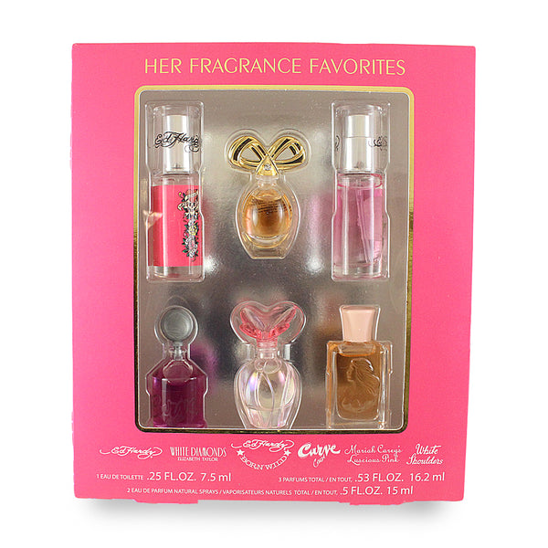 FFW62 - Various Designers Fragrance Favorites Women's Collection 6 Pc. Gift Set for Women