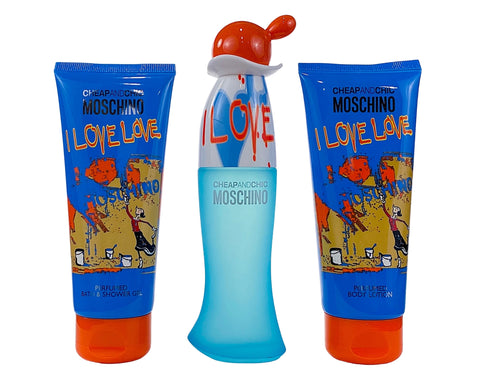 ILV85 - Moschino I Love Love 3 Pc.Gift Set for Women