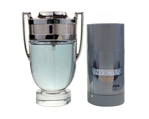INV59M - Paco Rabanne Invictus 2 Pc. Gift Set for Men - Deo 2.5 oz + EDT 3.4 oz