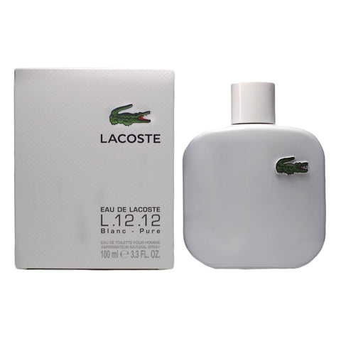 LAB33M - Eau De Lacoste L.12.12 Blanc Eau De Toilette for Men - 3.3 oz / 100 ml