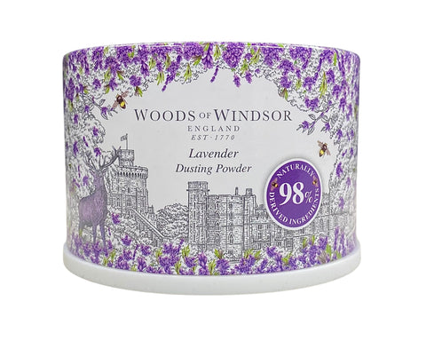 LAV55-P - Lavender Dusting Powder for Women - 3.5 oz / 105 g - With Puff